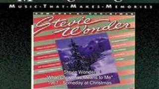 Watch Stevie Wonder What Christmas Means To Me video