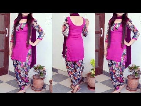 Beautiful Colour Combination For Punjabi Suit  । Punjabi Suit Design Ideas    Salwar Kameez Suit