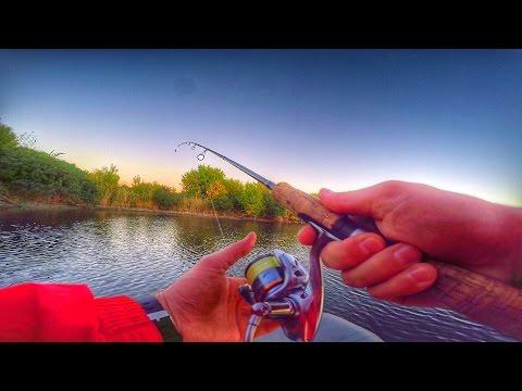 Рыбалка, ловля хищника, окуня, щуки в Ростовской области, GoPro Hero 4, на лодке, Timelapse.