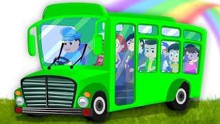 bánh xe trên xe buýt | xe buýt vần | trẻ em bài hát | Wheels On The Bus
