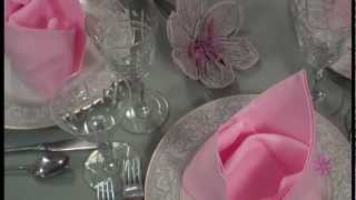 The Maxwell Moment: (napkin Folding With Brini) Pretty In Pink - Crown Napkin Fold!