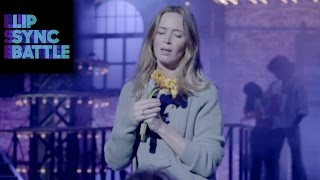 Emily Blunt Prepares for Lip Sync Battle