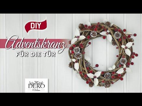 DIY: Advents-Türkranz mit Ilexblättern basteln [How to] Deko Kitchen