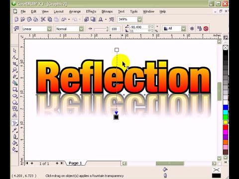 Reflection Effect in CorelDraw