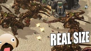 Real Size Zerg 8 Player FFA - Starcraft 2 Real Scale Mod Realistic