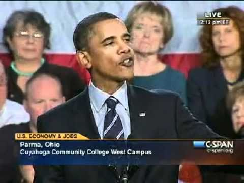 Pr. Obama - Cleveland Ohio (1)  Growing the Economy for US ALL