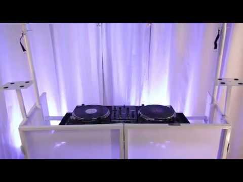 Novopro SDX Mobile DJ Booth with Lighting Bar and Podium Stands