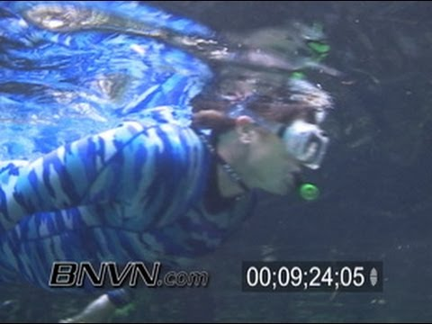 7/29/2005 Crystal River Florida, Three Sisters Springs Video