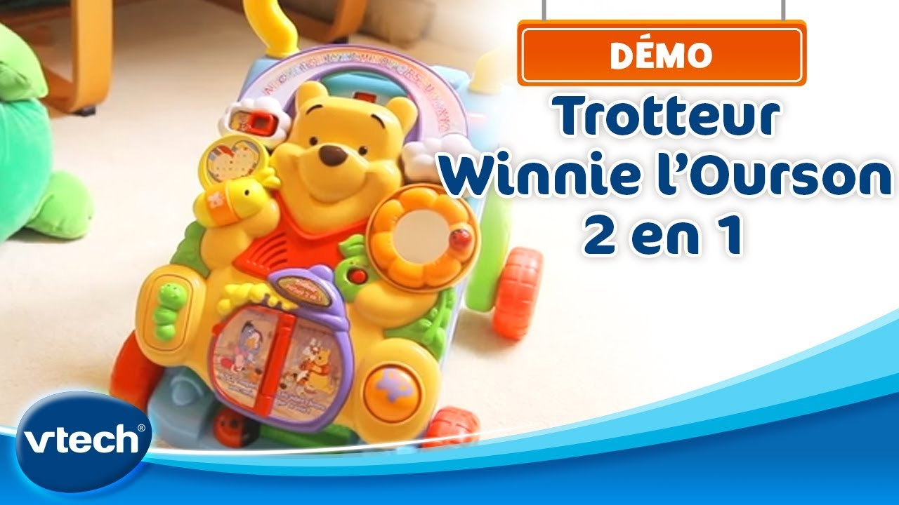 Demo trotteur winnie l 39 ourson 2 en 1 de vtech youtube - Armoire bebe winnie lourson 2 ...