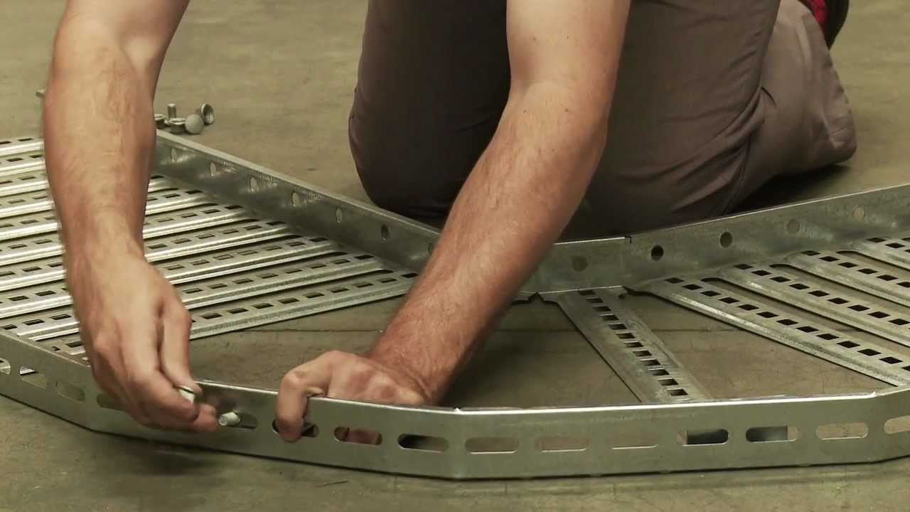 Putting A 90 Degree Bend Into Cable Tray Youtube