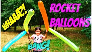 Outdoor Playground Fun - Rocket Balloons for Kids
