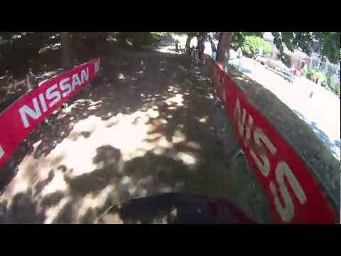 Nissan Downhill testrit met Headcam