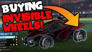 BUYING RARE *INVISIBLE WHEELS* ON ROCKET LEAGUE! | Best Trades of the Week!