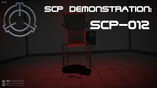SCP Demonstration: SCP-012