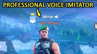 I Hired A Professional Voice Impersonator To Pretend To Be Ninja... (Fortnite)