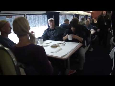 Amtrak Empire Builder sleeper. dining car. coach. observation car