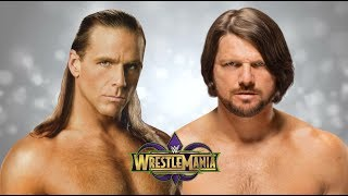 AJ Styles vs Shawn Michaels Wrestlemania 34 Promo HD