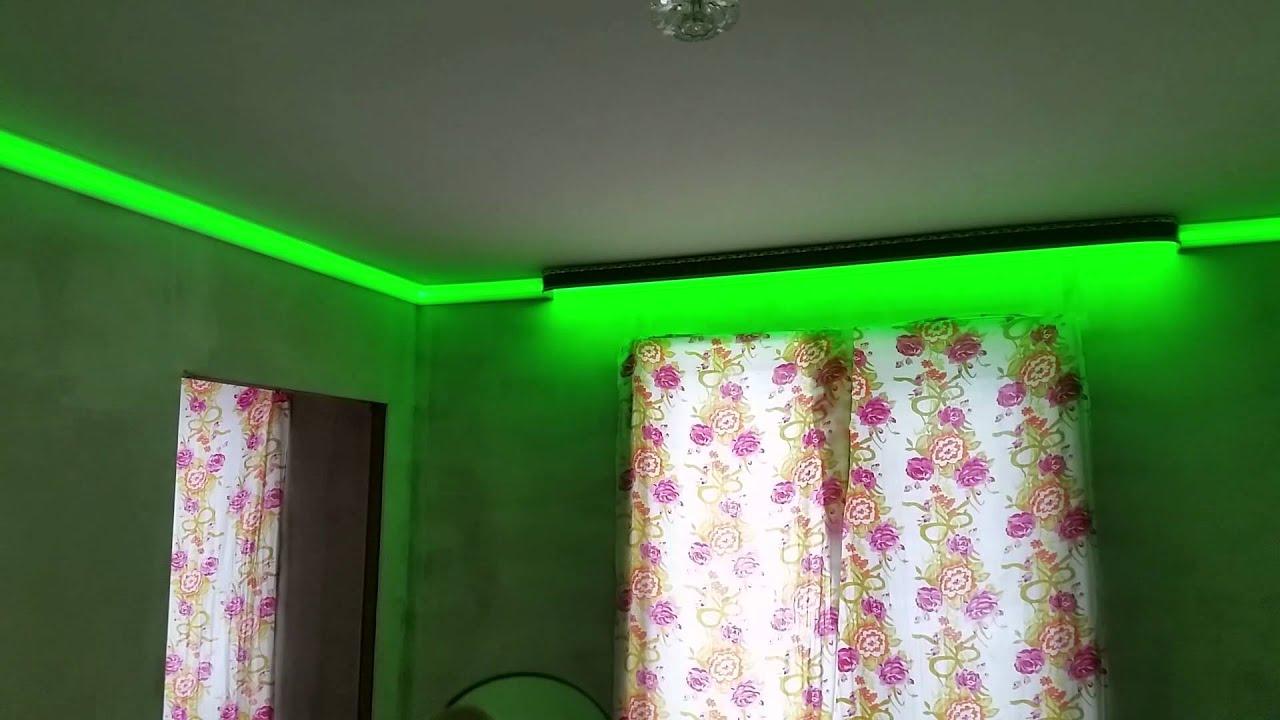 Светодиодная подсветка карниза штор своими руками