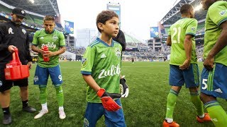 Make-A-Wish recipient Bheem Goyal debuts for Seattle Sounders FC