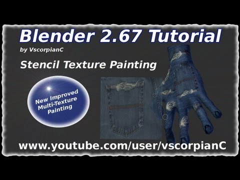 Blender Tutorial Stencil Texture Painting Multitextures by VscorpianC