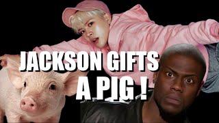 JACKSON WANG GIFTS A PIG | REACTION