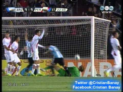 Argentina 3 Peru 1 (Relato Sebastian Vignolo) Eliminatorias Rumbo a Brasil 2014  (11/10/2013)