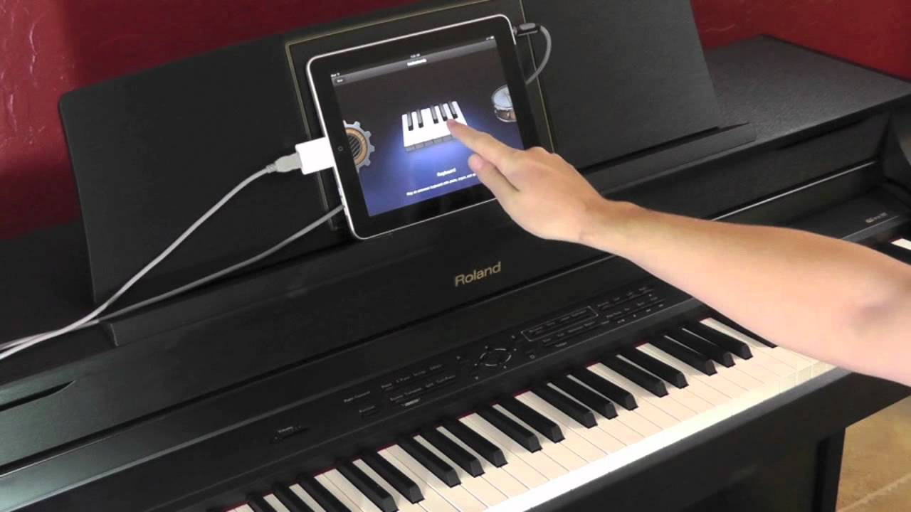 Using Roland Digital Pianos With The Apple Ipad Youtube