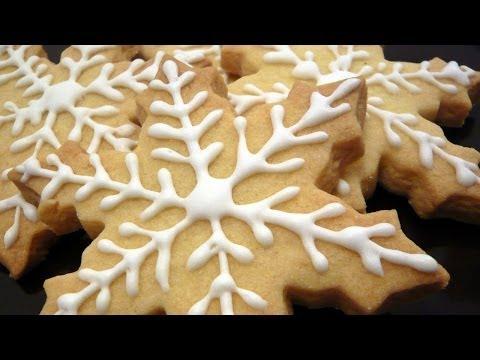 Receta de copos de nieve / Recipe snowflakes