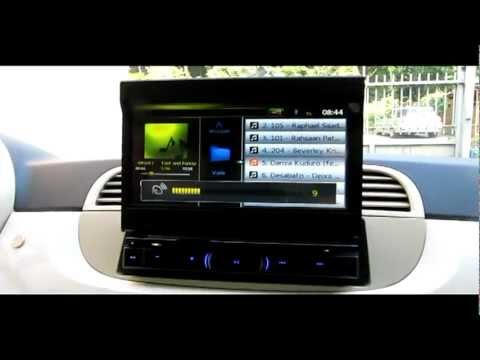 fiat 500 autoradio gps motorizzata touchscreen youtube. Black Bedroom Furniture Sets. Home Design Ideas