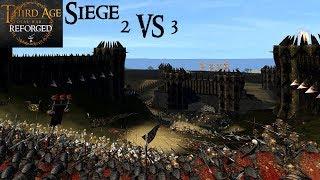 MEN, ELVES AND DWARVES ATTACK CARN DUM (Siege Battle) - Third Age: Total War (Reforged)