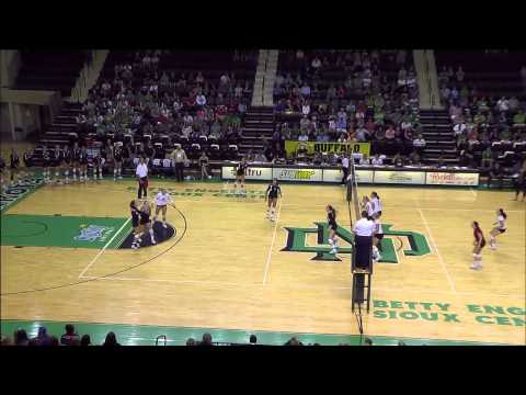 UND Volleyball vs. South Dakota Post Game Wrap 9.5.14