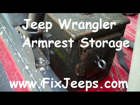 Jeep Wrangler Wheel Well Storage And Arm Rest Youtube