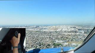 A340 - Los Angeles - KLAX 25R approach with sidestick