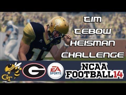 NCAA Football 14 Heisman Challenge Mode: Tim Tebow EP12 - Showdown in Georgia (Week 14 vs. Georgia)