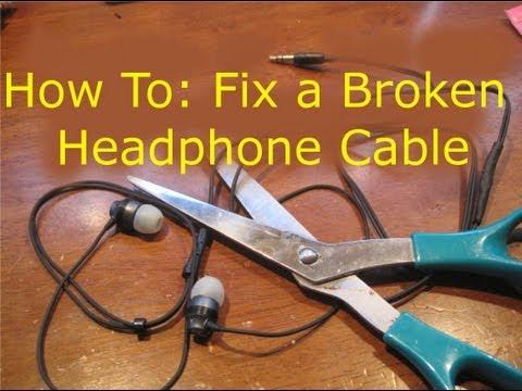 How To: Fix Broken Headphones (Cut in Half)