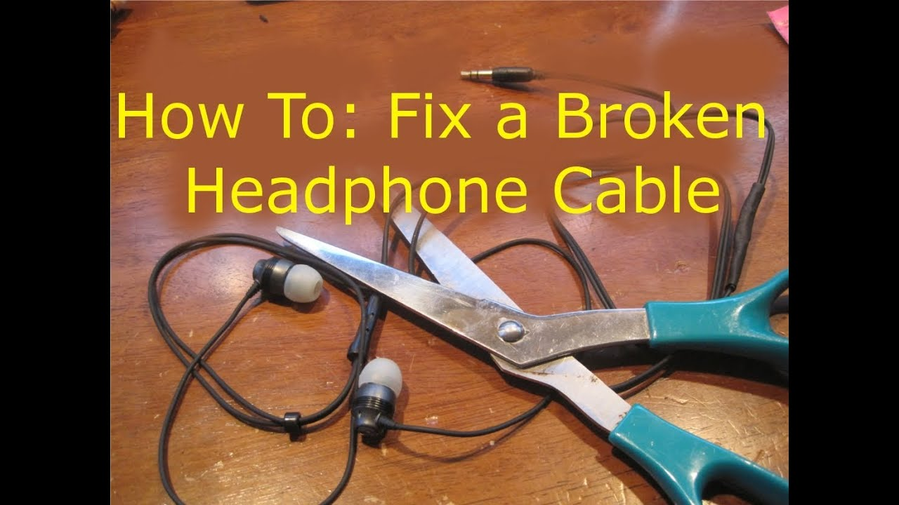 how to fix broken headphones cut in half youtube. Black Bedroom Furniture Sets. Home Design Ideas