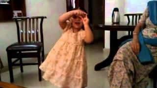 cute baby girl singing poems