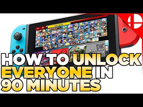 UNDER 90 MINUTES, Fastest Way to Unlock Characters in Smash Ultimate