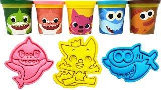 Play-Doh Baby Shark Characters Molds & Toys Pinkfong Grandpa Shark Grandma Shark