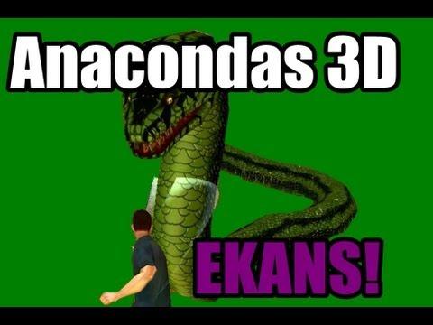 Anacondas 3D - Armas são pros fracos, o negócio é na PEXERA!