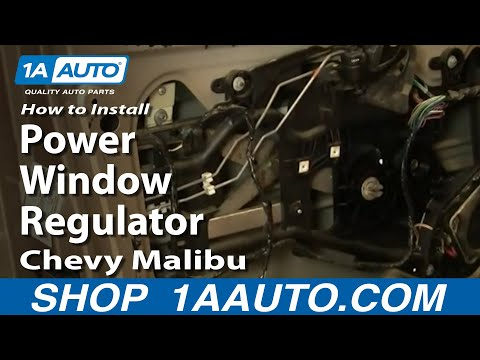 How To Install Replace Power Window Regulator Chevy Malibu 97-03 1AAuto.com