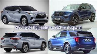 All-new 2020 Toyota Highlander vs 2020 Ford Explorer | quick walkaround