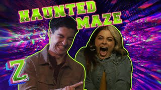 Baby Ariel and Trevor Check Out a Haunted Maze! 😱 | ZOMBIES 2 | Disney Channel