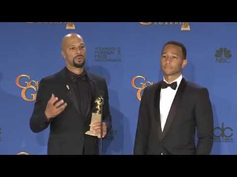 Common and John Legend: Golden Globe Awards Backstage Interview (2015)