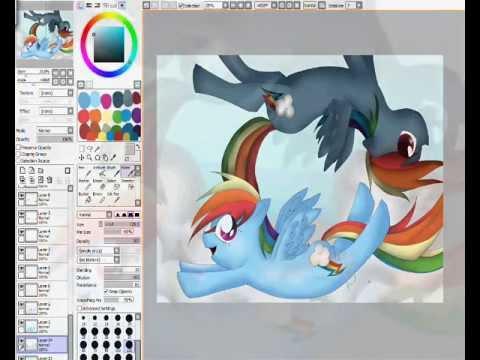 Mlp Speedpaint Rainbow Dash Mlp:fim Rainbow Dash And Dark