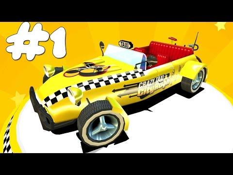БЕЗУМНОЕ ТАКСИ Игра как мультик про такси Игра Crazy Taxi #1