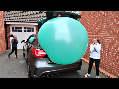 Giant Balloon Stuck In Our Car - Surprise Toys For Kids - Shopkins - Disney Toys