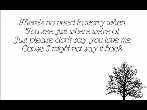 Please Don't Say You Love Me - Gabrielle Aplin - Lyrics