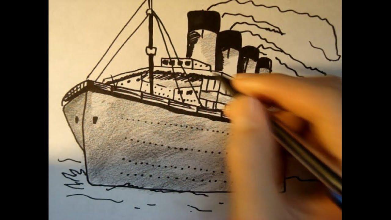 Titanic Pencil Drawings Draw The Titanic in Pencil