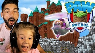 Paw Patrol Minecraft Adventure with My Daughter! :: Skye's Helicopter!